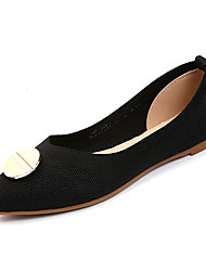 cheap -Women's Shoes Knit / Elastic Fabric Summer Comfort Flats Flat Heel Pointed Toe Black / Beige / Red