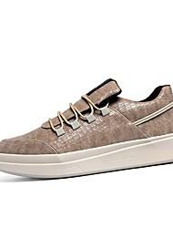 billige -Herre Svinelæder Efterår Komfort Sneakers Hvid / Sort / Brun