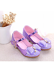 cheap -Girls' Shoes Synthetics Spring &  Fall Flower Girl Shoes / Tiny Heels for Teens Heels for Silver / Purple