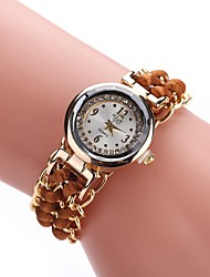 baratos -Mulheres Bracele Relógio / Relógio de Pulso Chinês Relógio Casual Lega / Tecido Banda Casual / Fashion Preta / Branco / Azul