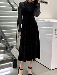 Недорогие -Жен. Оболочка Платье Завышенная До колена