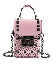 baratos -Mulheres Bolsas PU Telefone Móvel Bag Estampa Preto / Vermelho / Rosa
