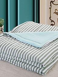 baratos -Confortável - 1 Cobertura de Cama Verão Algodão Listrado