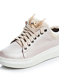 abordables -Femme Chaussures de confort Polyuréthane Automne hiver Sportif Basket Creepers Bout rond Strass Argent / Rose