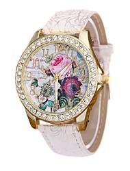 cheap -Women's Dress Watch Wrist Watch Quartz New Design Casual Watch Imitation Diamond PU Band Analog Casual Fashion Black / White / Blue - Red Blue Pink One Year Battery Life / Large Dial