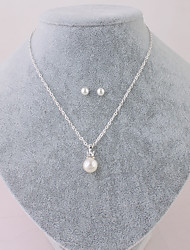 preiswerte -Damen Stilvoll Anhängerketten - Perle Stilvoll, Europäisch Silber 41+7 cm Modische Halsketten 1pc Für Hochzeit, Alltag