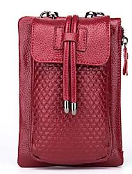 Недорогие -Жен. Мешки PU Мобильный телефон сумка Однотонные Черный / Лиловый / Винный