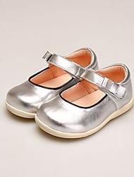 abordables -Fille Chaussures Microfibre Eté Confort Ballerines Scotch Magique pour Bébé Argent / Rouge
