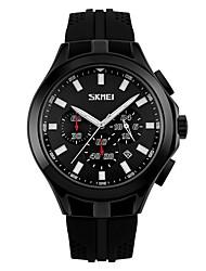 Недорогие -SKMEI Муж. Для пары Наручные часы электронные часы Цифровой силиконовый Черный 30 m Защита от влаги Календарь Хронометр Аналого-цифровые На каждый день Мода - Желтый Красный Синий / Фосфоресцирующий