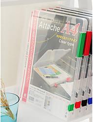 Недорогие -Пластик Прозрачный Body Главная организация, 1шт Папки и подачи / Сумка для хранения / Органайзеры для стола