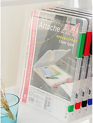 baratos -a4 arquivo claro tranparent casos de documentos de plástico organizadores de papel de mesa titular caixa de armazenamento de escritório