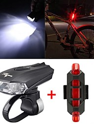 cheap -Front Bike Light / Rear Bike Light LED Bike Light Cycling Waterproof, Adjustable, Quick Release 800 lm Rechargeable / Power Cold White / Red Camping / Hiking / Caving / Cycling / Bike