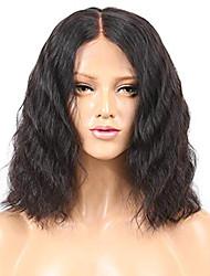 Недорогие -Натуральные волосы Лента спереди Парик Бразильские волосы / Бирманские волосы Волнистые Парик Стрижка боб 130% Легко туалетный / Лучшее качество / Горячая распродажа Нейтральный Жен. Короткие