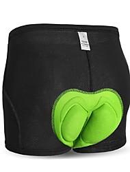 baratos -INBIKE Homens Cueca Boxer Acolchoada Moto Shorts Roupa interior Respirável Elastano Preto / verde / Black / azul Intermediário Ciclismo de Estrada Forma Assenta Roupa de Ciclismo / Com Stretch
