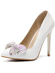 economico -Per donna Scarpe PU (Poliuretano) Autunno inverno Decolleté scarpe da sposa A stiletto Appuntite Con diamantini / Fiocco / Brillantini Oro / Serata e festa