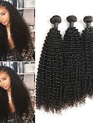 tanie -3 zestawy Włosy indyjskie Kinky Curl 8A Włosy naturalne Doczepy z naturalnych włosów 8-24 in Ludzkie włosy wyplata Najwyższa jakość Nowości Gorąca wyprzedaż Ludzkich włosów rozszerzeniach Damskie