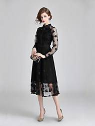cheap -Women's Elegant Sheath Dress Lace