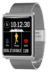 baratos -Pulseira inteligente JSBP-N98 para Android iOS Bluetooth Esportivo Impermeável Monitor de Batimento Cardíaco Medição de Pressão Sanguínea Tela de toque Podômetro Aviso de Chamada Monitor de Atividade