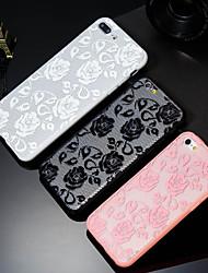 Недорогие -Кейс для Назначение Apple iPhone X / iPhone 8 Plus С узором Кейс на заднюю панель Цветы Твердый ПК для iPhone X / iPhone 8 Pluss / iPhone 8