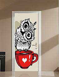 baratos -Porta Adesivos - Autocolantes 3D para Parede Abstrato / Animais Sala de Estar / Quarto