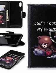 Недорогие -Кейс для Назначение Apple iPhone XR / iPhone XS Max Кошелек / Бумажник для карт / со стендом Чехол Слова / выражения Твердый Кожа PU для iPhone XS / iPhone XR / iPhone XS Max
