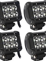 Недорогие -OTOLAMPARA 4шт Автомобиль Лампы 60 W Высокомощный LED 6000 lm 6 Светодиодная лампа Рабочее освещение Назначение Jeep / Ford / Dodge Wrangler / Cherokee / Equinox