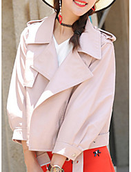 cheap -women's pu leather jacket - solid colored