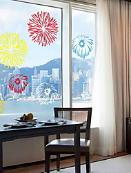 cheap -Window Film & Stickers Decoration Contemporary / Abstract Holiday PVC(PolyVinyl Chloride) Window Sticker / Cool