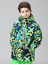 Недорогие -GSOU SNOW Мальчики / Девочки Лыжная куртка С защитой от ветра, Водонепроницаемость, Теплый Катание на лыжах / Зимние виды спорта Полиэфир Верхняя часть Одежда для катания на лыжах