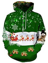 Недорогие -Жен. Активный / Классический Большие размеры Свободный силуэт Брюки - 3D / Персонажи С принтом Зеленый / Осень / Зима / Праздники