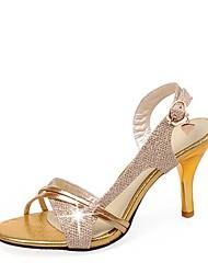 Недорогие -женские туфли ador® из искусственной кожи летние британские босоножки на каблуке с пряжкой на шпильке пряжка под золото / серебро / свадьба / вечеринка& вечер / цветовой блок