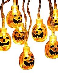 abordables -BRELONG® 1.5m Guirlandes Lumineuses 10 LED LED Dip Blanc Chaud / Blanc Créatif / Design nouveau / Décorative Piles AA alimentées 1pc / IP65