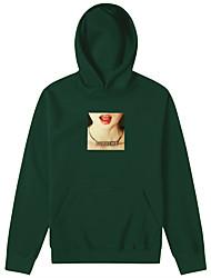 baratos -Homens Activo / Básico Calças - 3D Estampado Vermelho / Com Capuz / Esportes / Manga Longa / Outono / Inverno