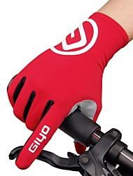 Недорогие -Спортивные перчатки Спортивные перчатки Перчатки для велосипедистов Горные велосипеды Шоссейные велосипеды Дышащий Anti-Shake Нескользящий Полный палец Спандекс Лайкра Силиконовые