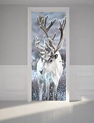 Недорогие -Декоративные наклейки на стены - Простые наклейки Животные В помещении