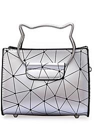 お買い得  -女性用 バッグ PU ショルダーバッグ パターン/プリント 幾何学模様 シルバー / ピンク / ベージュ