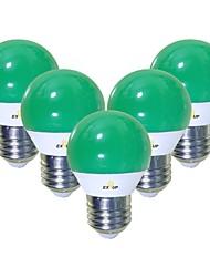 Недорогие -EXUP® 5 шт. 5 W 450 lm E26 / E27 Круглые LED лампы G45 12 Светодиодные бусины SMD 2835 Очаровательный / Творчество / Для вечеринок Зеленый 220-240 V / 110-130 V