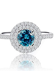 cheap -Women's Cubic Zirconia Stack Ring - Copper, Platinum Plated Stylish 6 / 7 / 8 / 9 Light Blue For Party