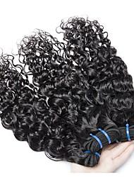 voordelige -3 bundels Braziliaans haar Watergolf 8A Echt haar Menselijk haar weeft Verlenging Bundle Hair 8-28 inch(es) Natuurlijke Kleur Menselijk haar weeft Dames uitbreiding Beste kwaliteit Extensions van