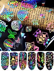 Недорогие -8 pcs 3D наклейки на ногти Звезда маникюр Маникюр педикюр Лучшее качество Мода / Цветной Повседневные / фестиваль
