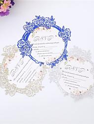 ราคาถูก -Flat Card เชิญแต่งงาน 10pcs - การ์ดส่งบัตรเชิญ Artistic Style กระดาษนูน แสงระยิบระยับ