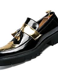 Недорогие -Муж. Комфортная обувь Полиуретан Осень Деловые Мокасины и Свитер Золотой / Черный / Серебряный