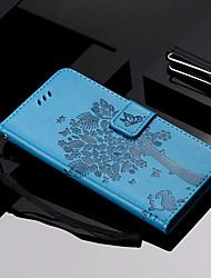 baratos -Capinha Para Samsung Galaxy Galaxy S10 / Galaxy S10 Plus Carteira / Porta-Cartão / Com Suporte Capa Proteção Completa Gato / Árvore Rígida PU Leather para S9 / S9 Plus / S8 Plus