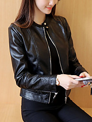 cheap -women's pu leather jacket - contemporary