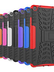 Недорогие -Кейс для Назначение Lenovo Lenovo Tab3 7 Защита от удара / со стендом Кейс на заднюю панель Плитка / броня Твердый ПК для Lenovo Tab3 7