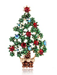 cheap -Women's Cut Out / Classic Brooches - Christmas Tree Simple, Classic Brooch Green For Christmas