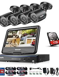 baratos -BNC 960H Tempo Real (960*576) 4 pcs 720p Cilíndrica 20 m 1TB