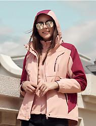 Недорогие -Жен. Куртка для туризма и прогулок на открытом воздухе Осень Зима С защитой от ветра Дожденепроницаемый Воздухопроницаемость Водонепроницаемая молния Полиэфир Куртки 3-в-1 Скрытая молния полной длины