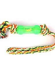 Недорогие -Жевательные игрушки Интерактивный Игрушка для очистки зубов Собаки 1шт Подходит для домашних животных Мультипликация Мультфильм игрушки Шнур сизаль