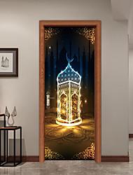 Недорогие -Дверные наклейки - 3D наклейки Абстракция / Религиозная тематика Гостиная / Спальня